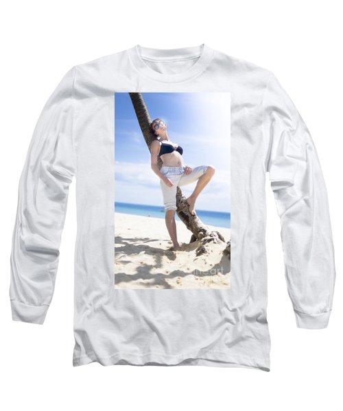 Tropical Island Paradise Long Sleeve T-Shirt
