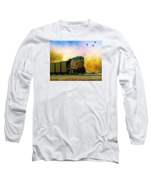 Union Pacific Coal Train Long Sleeve T-Shirt by Janette Boyd