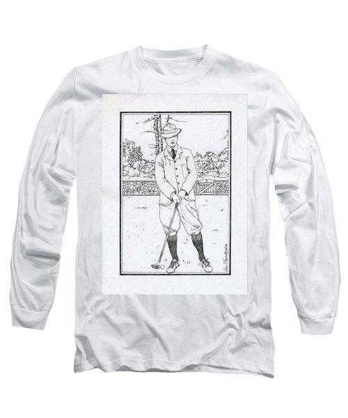 Vintage Golfer Long Sleeve T-Shirt by Ira Shander