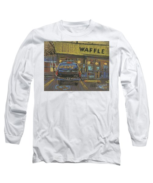 Long Sleeve T-Shirt featuring the painting Waffle House by Donald Maier