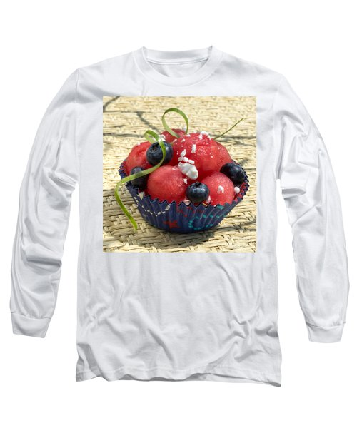 Watermelon Blueberry And Goatcheese Long Sleeve T-Shirt