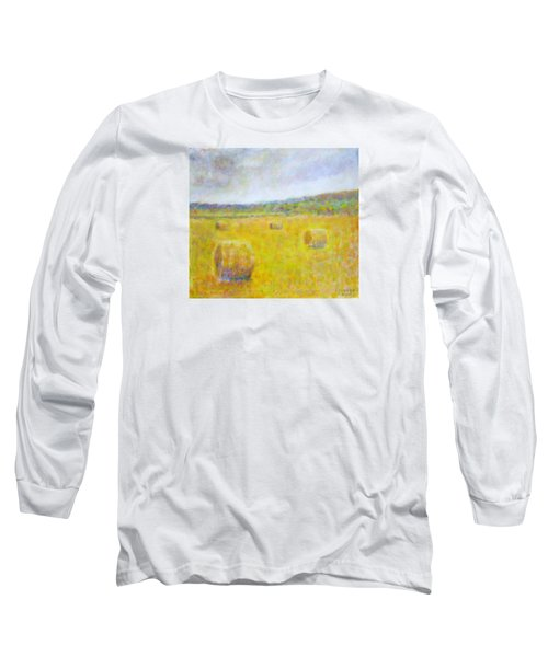 Wheat Bales At Harvest Long Sleeve T-Shirt