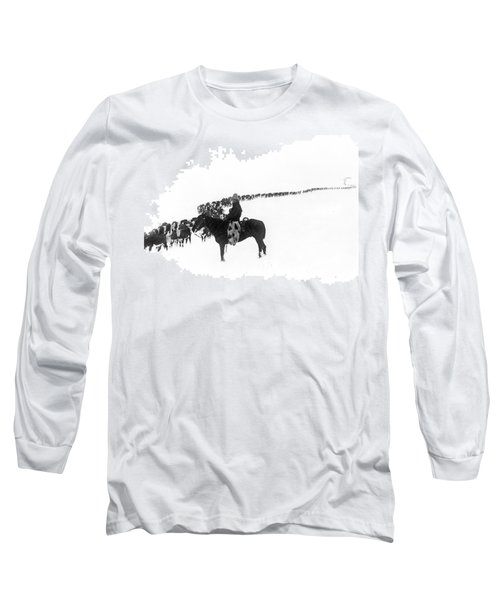 Wintertime Cattle Drive Long Sleeve T-Shirt