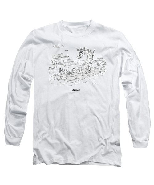 Woman Speaks To Man In A Pool With The Lochness Long Sleeve T-Shirt