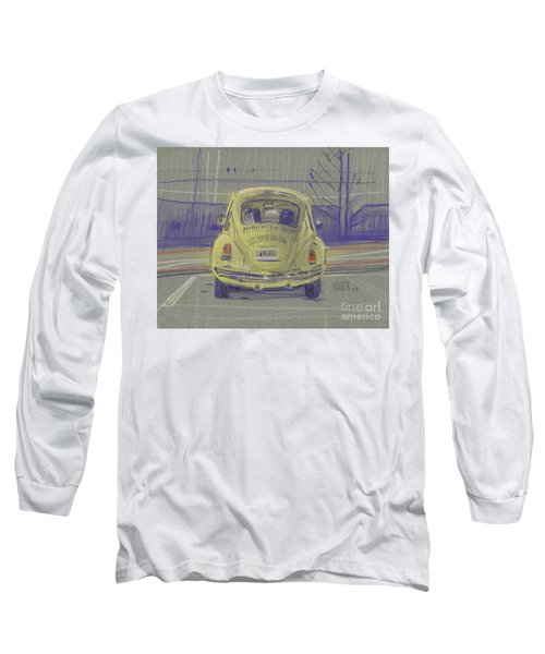Long Sleeve T-Shirt featuring the painting Yellow Beetle by Donald Maier