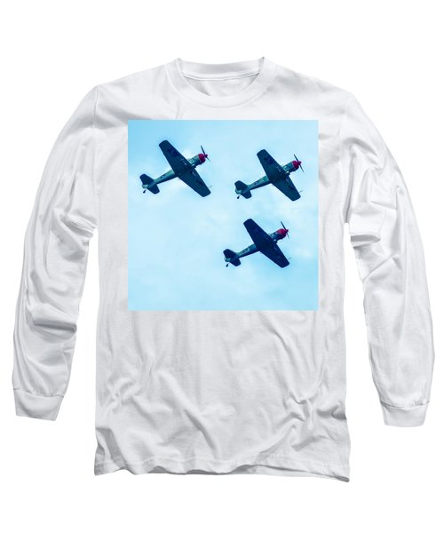 Action In The Sky During An Airshow Long Sleeve T-Shirt