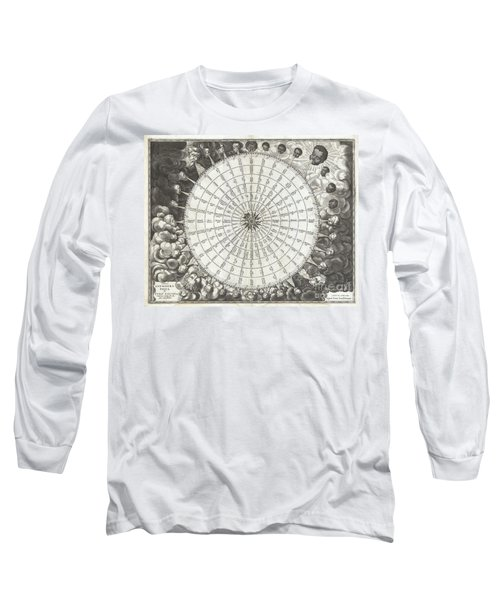 1650 Jansson Wind Rose Anemographic Chart Or Map Of The Winds Long Sleeve T-Shirt