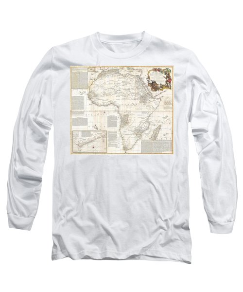 1787 Boulton  Sayer Wall Map Of Africa Long Sleeve T-Shirt