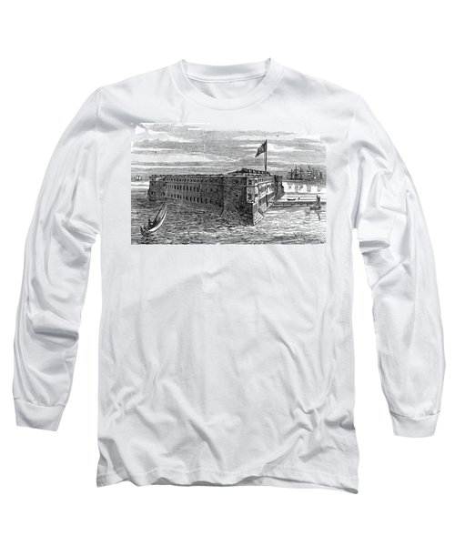 1800s 1860s View Of Fort Taylor Key Long Sleeve T-Shirt