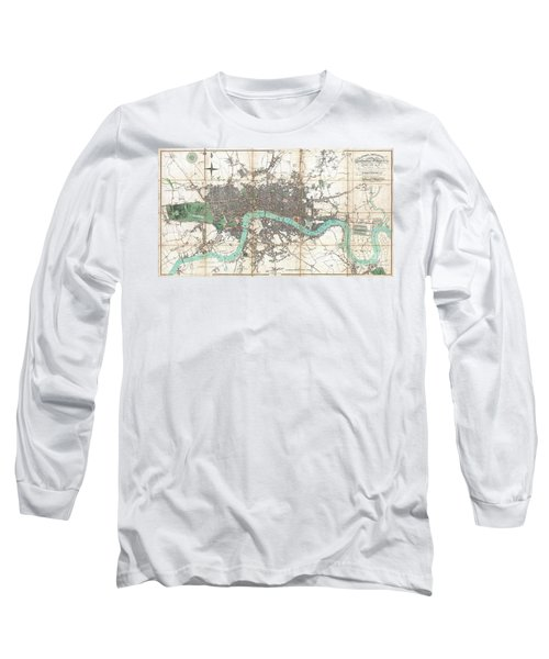 1806 Mogg Pocket Or Case Map Of London Long Sleeve T-Shirt