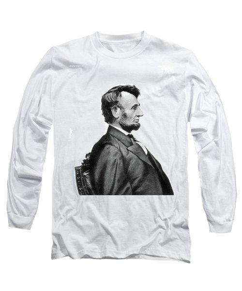 1860s Profile Portrait President Long Sleeve T-Shirt