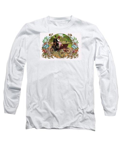 1890 Auto Vintage Art Long Sleeve T-Shirt by Maciek Froncisz