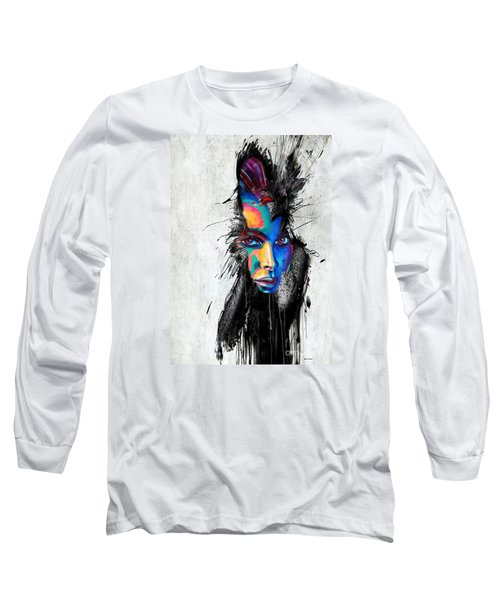 Long Sleeve T-Shirt featuring the painting Facial Expressions by Rafael Salazar