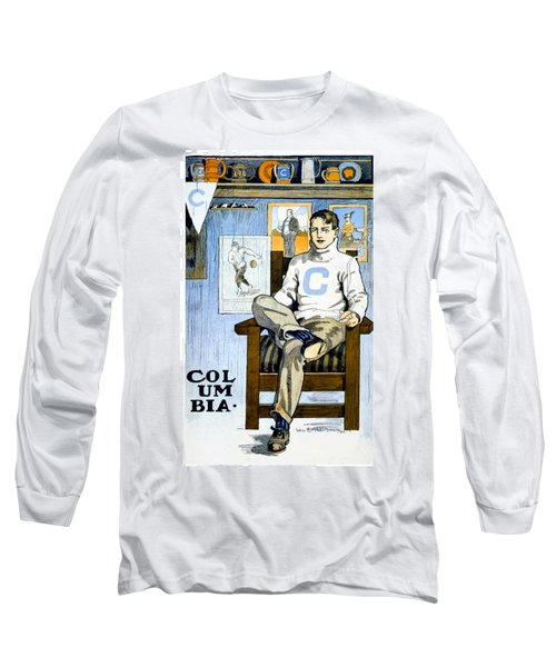 1902 - Columbia University Sports Poster - Color Long Sleeve T-Shirt