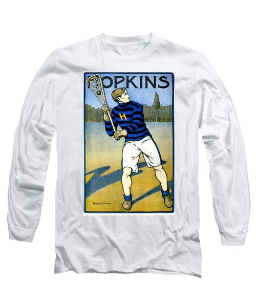 1905 - Johns Hopkins University Lacrosse Poster - Color Long Sleeve T-Shirt
