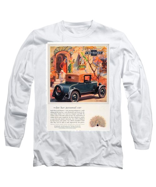 1927 - Chevrolet Advertisement - Color Long Sleeve T-Shirt