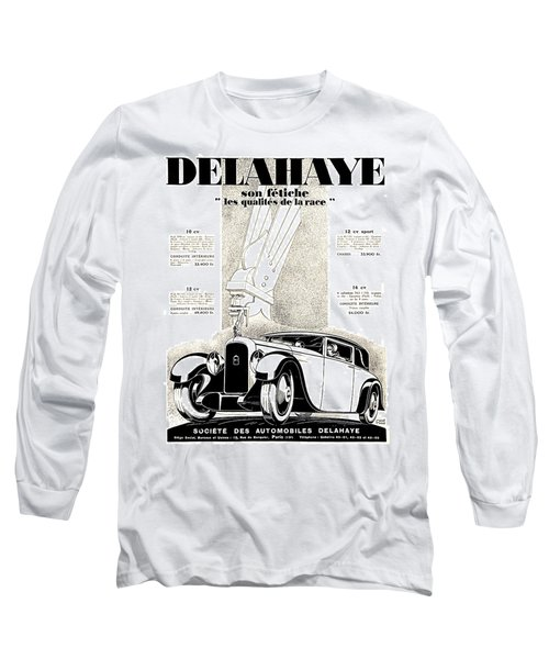 1928 - Delehaye Automobile Advertisement Long Sleeve T-Shirt