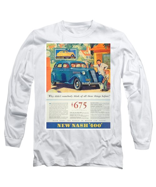 1936 - Nash Sedan Automobile Advertisement - Color Long Sleeve T-Shirt