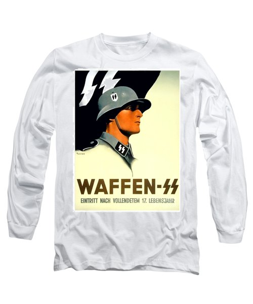 1941 - German Waffen Ss Recruitment Poster - Nazi - Color Long Sleeve T-Shirt