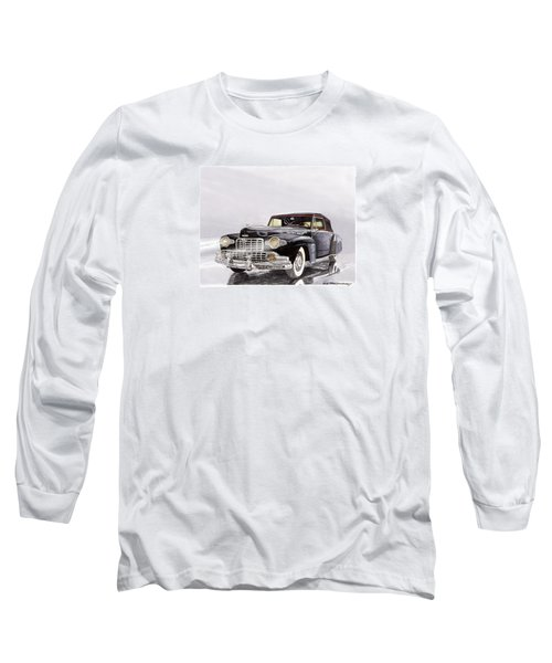 1946 Lincoln Continental Convertible Foggy Reflection Long Sleeve T-Shirt by Jack Pumphrey