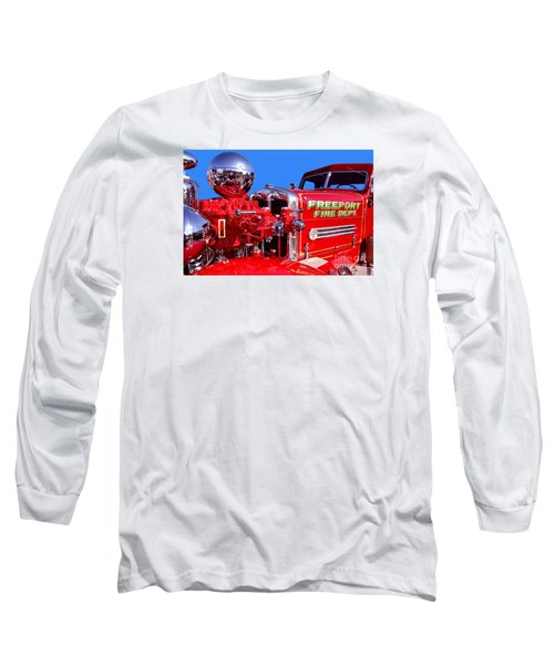 1949 Ahrens Fox Piston Pumper Fire Truck Long Sleeve T-Shirt