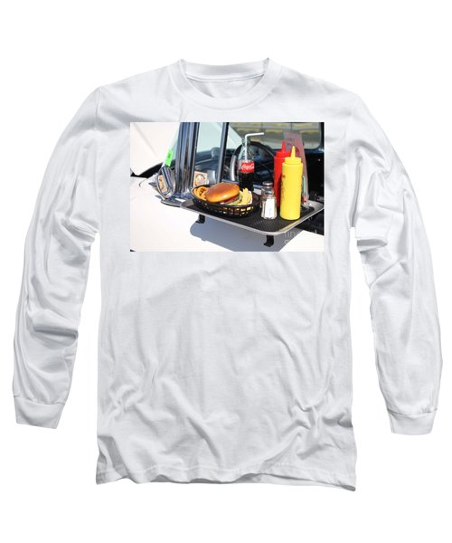 1950's Drive In Movie Snack Tray Long Sleeve T-Shirt