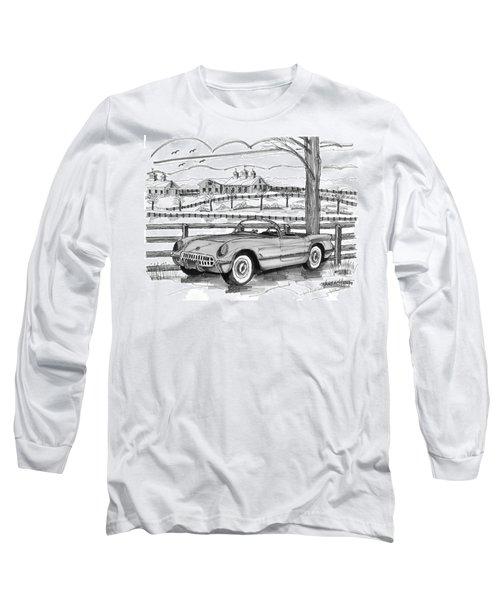 1953 Chevrolet Corvette Long Sleeve T-Shirt