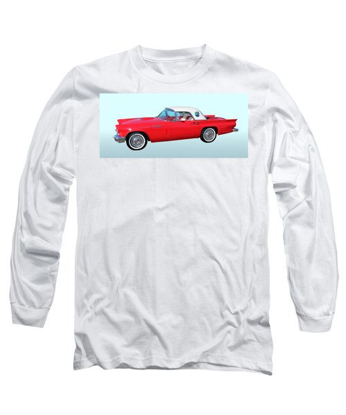 Vintage Long Sleeve T-Shirt featuring the photograph 1957 Ford Thunderbird  by Aaron Berg