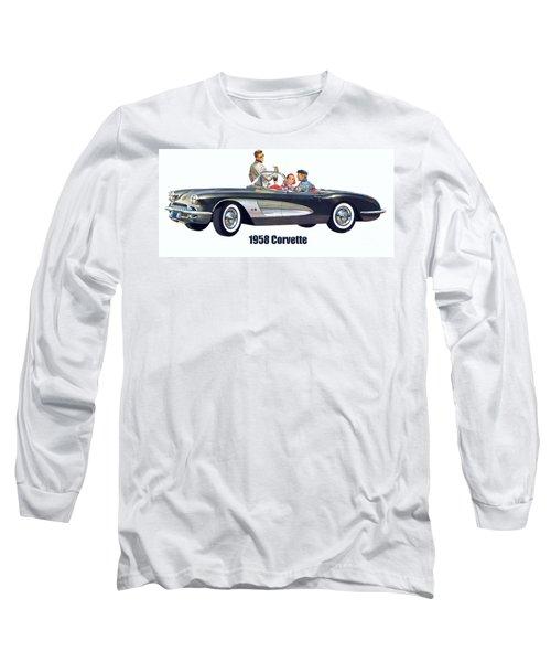 1958 Chevrolet Corvette Long Sleeve T-Shirt