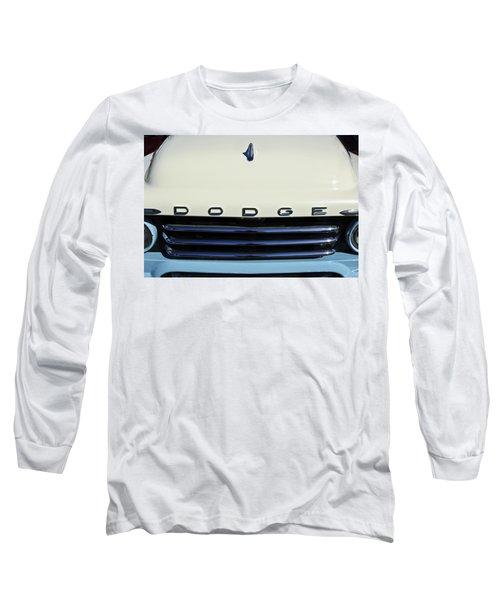 1958 Dodge Sweptside Truck Grille Long Sleeve T-Shirt