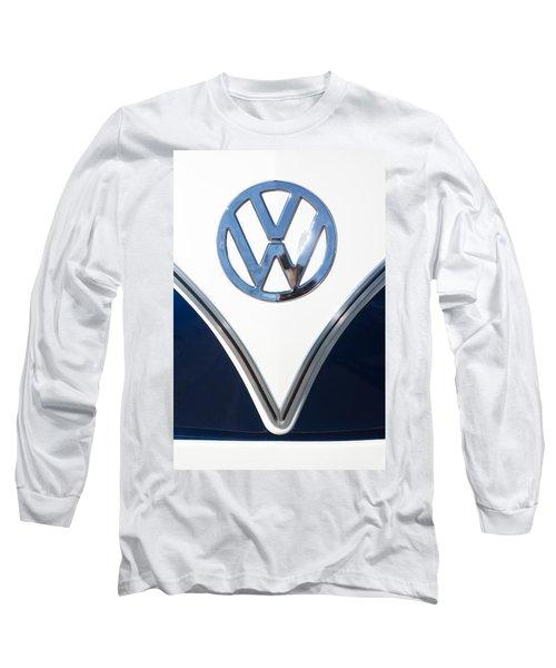 1958 Volkswagen Vw Bus Emblem Long Sleeve T-Shirt
