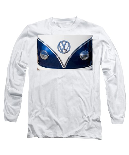 1958 Volkswagen Vw Bus Hood Emblem Long Sleeve T-Shirt