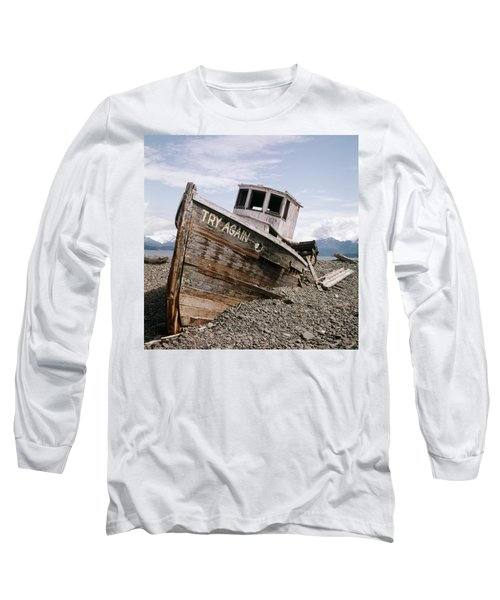1980s Try Again Boat Wreck Homer Alaska Long Sleeve T-Shirt