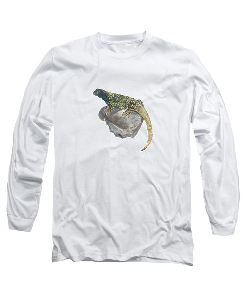 Argentine Lizard Long Sleeve T-Shirt by Cindy Hitchcock