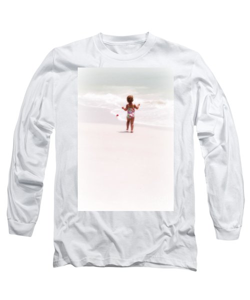 Baby Chases Red Ball Long Sleeve T-Shirt by Valerie Reeves