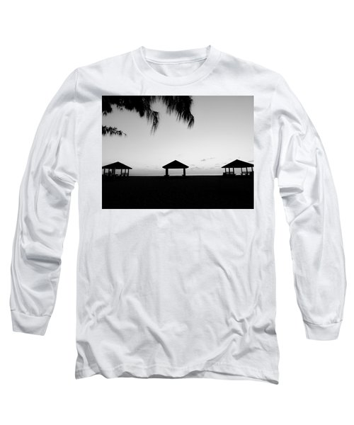 Long Sleeve T-Shirt featuring the photograph Beach Huts by Amar Sheow