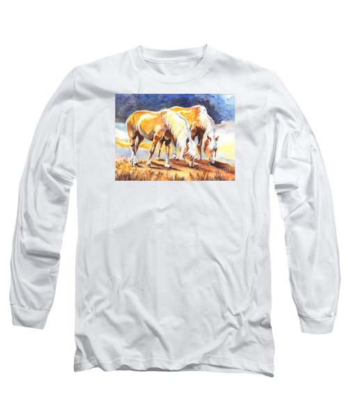 Long Sleeve T-Shirt featuring the painting Best Pals by Carol Wisniewski