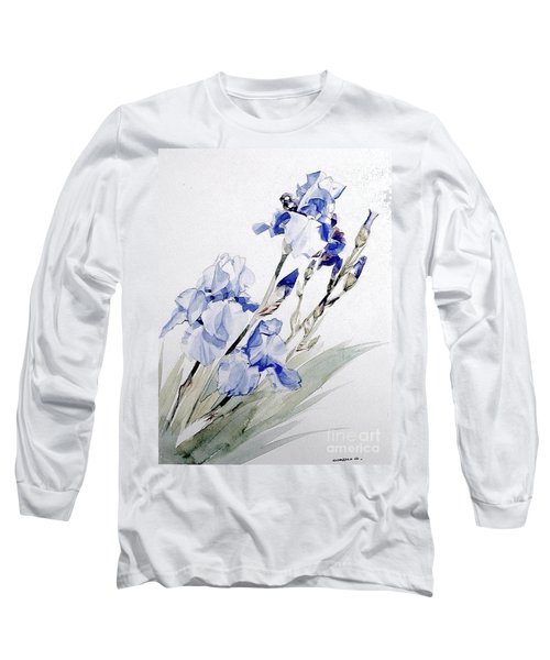 Blue Irises Long Sleeve T-Shirt