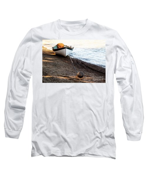 China Beach Rowboat Long Sleeve T-Shirt by Roselynne Broussard