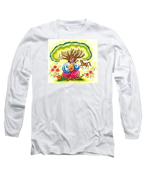 Cossack Mamay Long Sleeve T-Shirt by Oleg Zavarzin