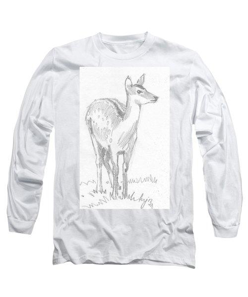 Deer Drawing  Long Sleeve T-Shirt