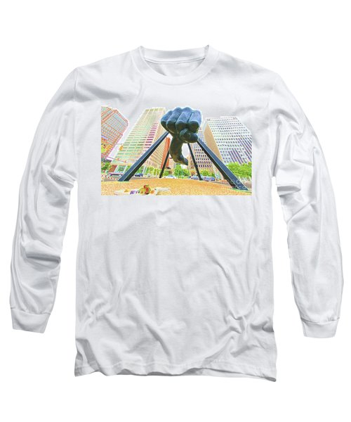 Detroit Fist Long Sleeve T-Shirt