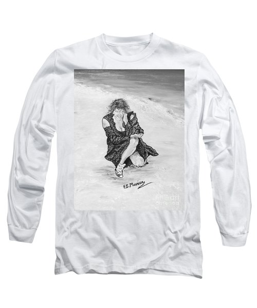 Long Sleeve T-Shirt featuring the painting Disperazione by Loredana Messina