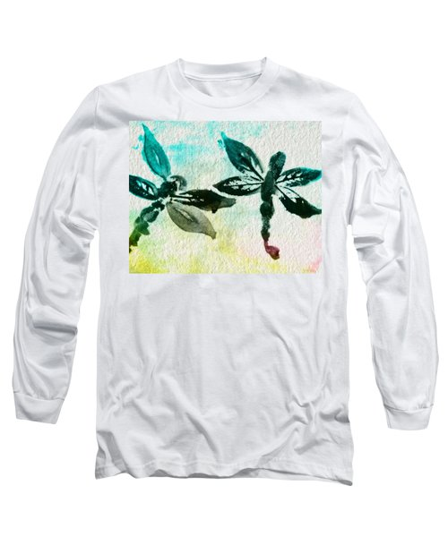 Long Sleeve T-Shirt featuring the digital art 2 Dragonflies Abstract by Frank Bright
