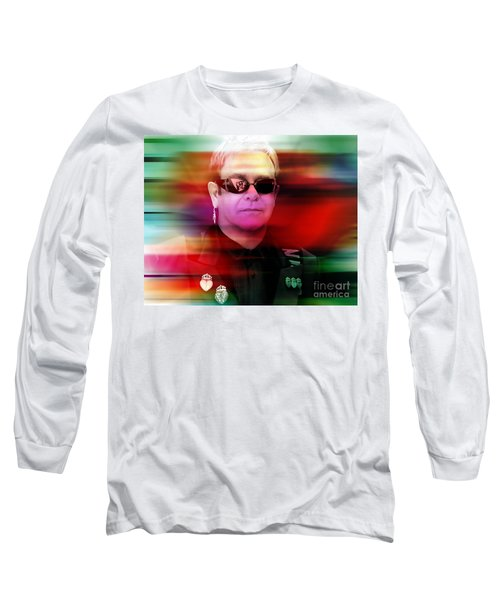 Elton John Long Sleeve T-Shirt by Marvin Blaine