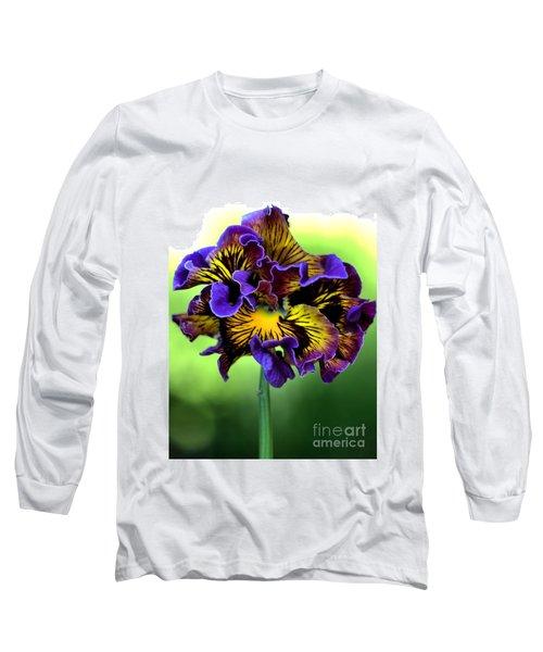 Frilly Pansy Long Sleeve T-Shirt by Joy Watson