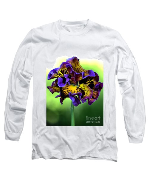 Frilly Pansy Long Sleeve T-Shirt