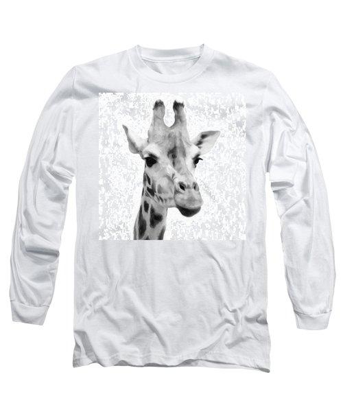 Giraffe On White Background  Long Sleeve T-Shirt