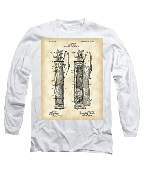 Golf Bag Patent 1905 - Vintage Long Sleeve T-Shirt by Stephen Younts