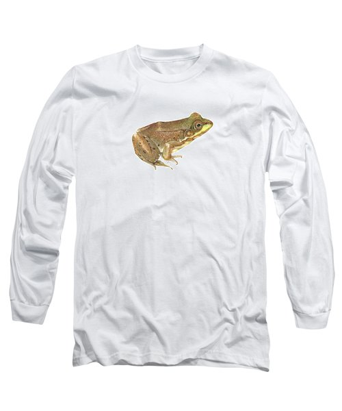 Green Frog Long Sleeve T-Shirt by Cindy Hitchcock